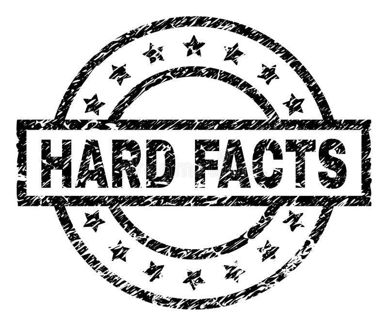 Grunge Textured CIĘŻKA fact znaczka foka ilustracja wektor