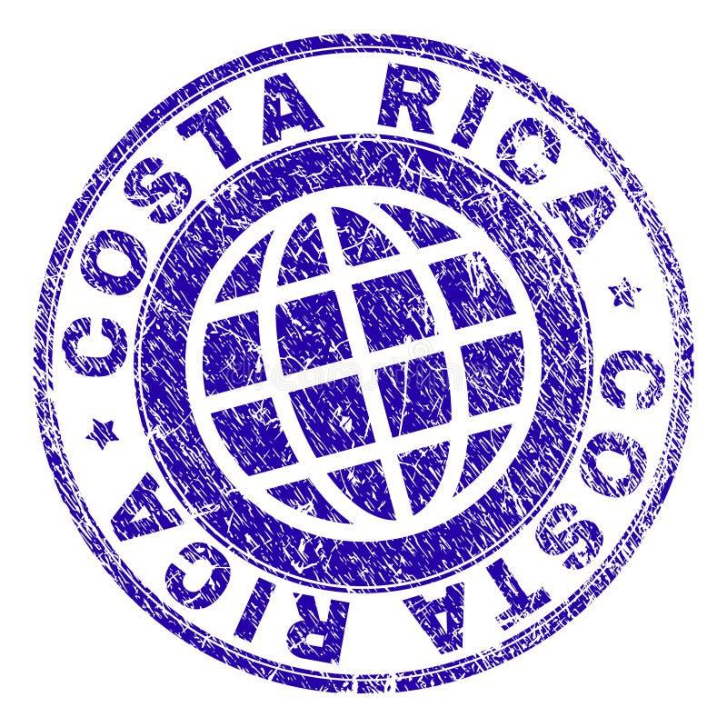Grunge Textured COSTA RICA znaczka foka ilustracji