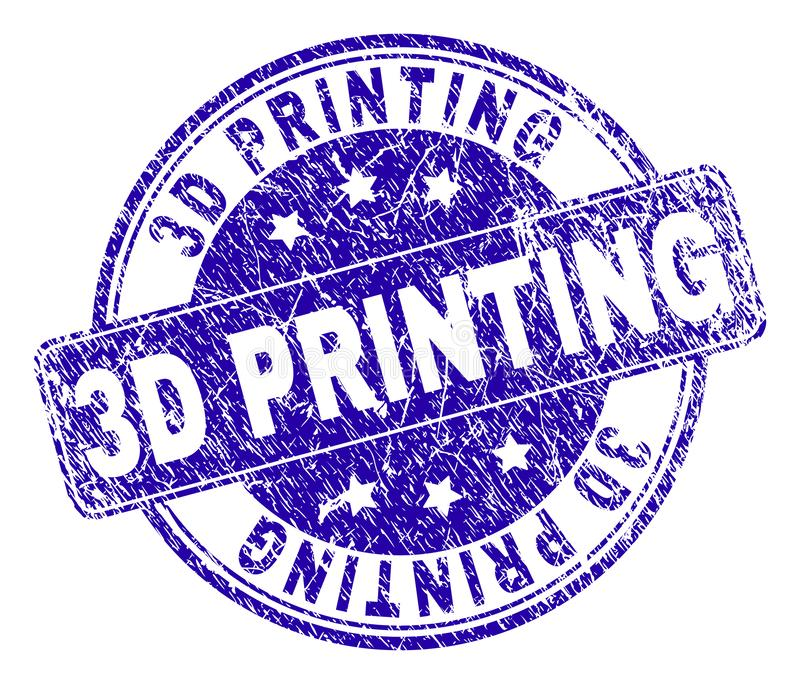 Grunge Textured 3D druku znaczka fokę ilustracji