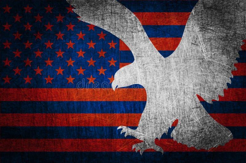 Grunge textured de indicador de los E.E.U.U. ilustración del vector