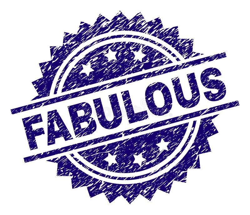 Grunge Textured FABULOUS Stamp Seal stock illustration
