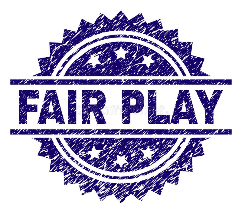 Grunge Textured FAIR PLAY Stamp Seal vector illustration