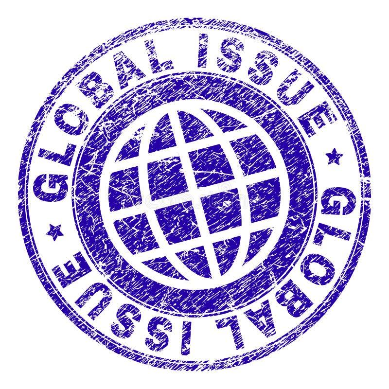 Grunge Textured GLOBALNA zagadnienie znaczka foka ilustracja wektor