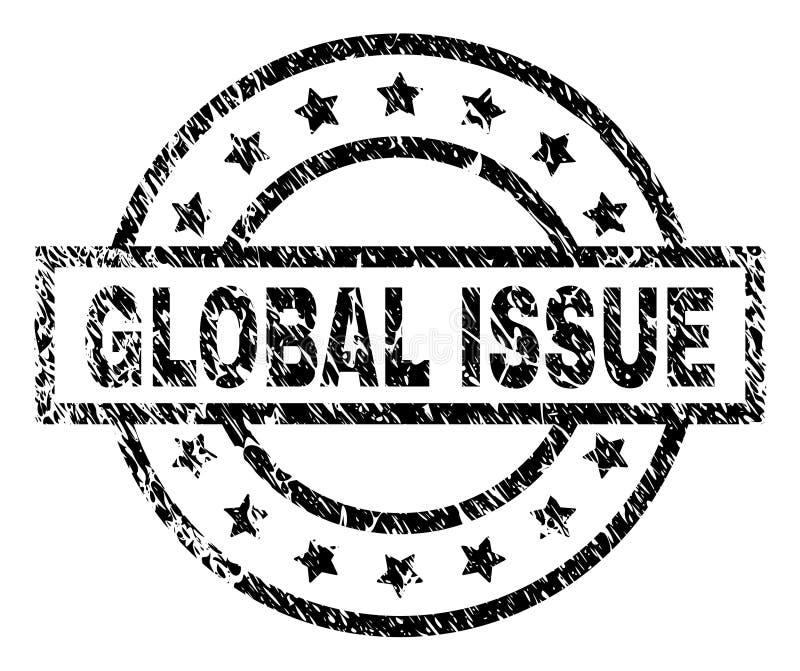Grunge Textured GLOBALNA zagadnienie znaczka foka ilustracji