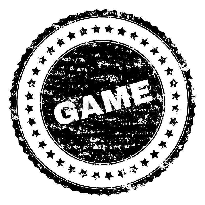 Grunge Textured gra znaczka foka ilustracja wektor