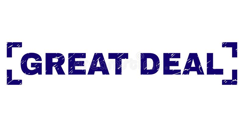 Grunge Textured GREAT DEAL Stamp Seal Inside Corners stock illustration