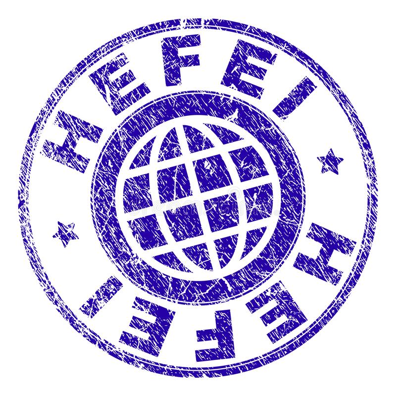 Grunge Textured HEFEI Stamp Seal vector illustration