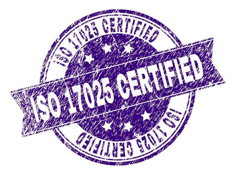 Grunge Textured ISO 17025 POŚWIADCZAJĄCĄ Stemplową fokę royalty ilustracja