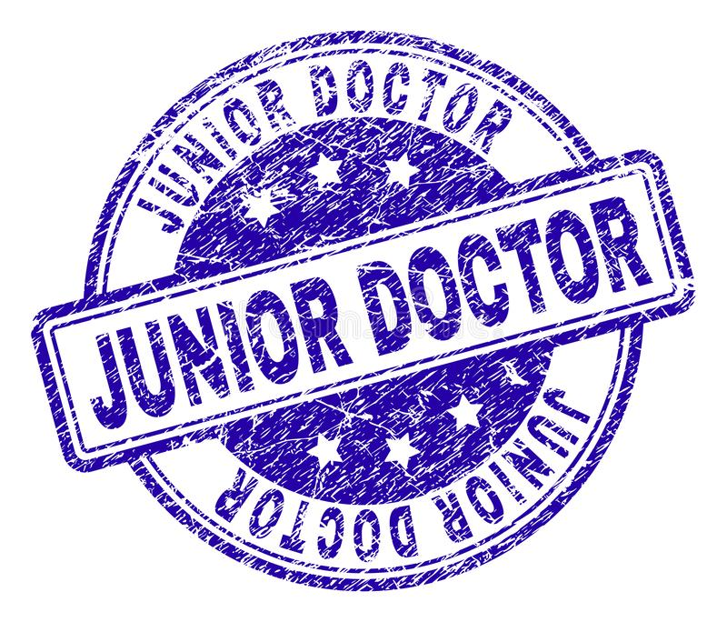 Grunge Textured junior lekarki znaczka foka royalty ilustracja