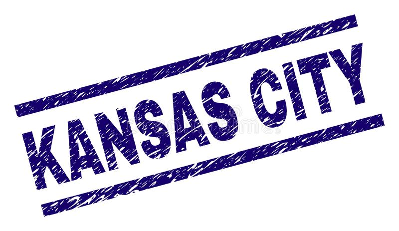 Grunge Textured KANSAS CITY znaczka foka ilustracji