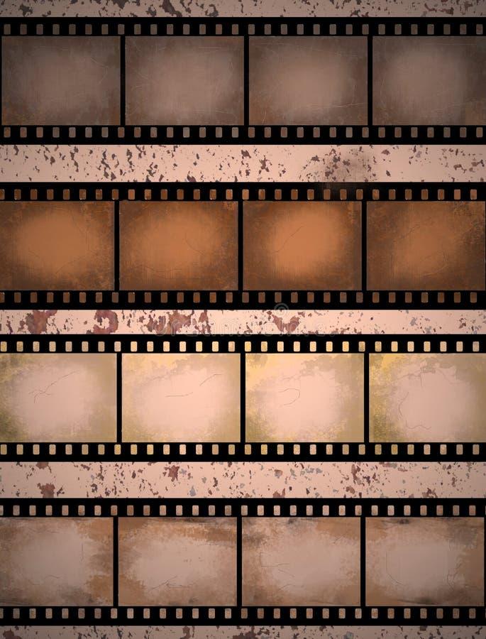 Grunge textured la tira de la película stock de ilustración