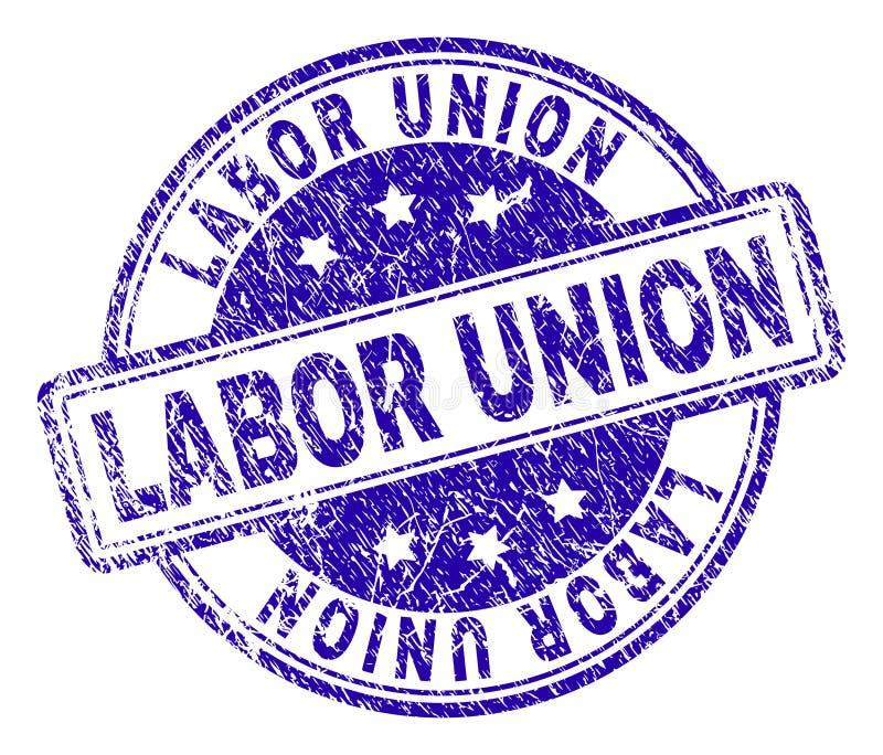 Grunge Textured LABOR UNION Stamp Seal stock illustration
