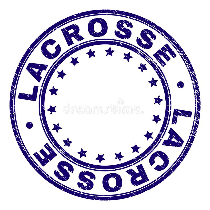 Grunge Textured LACROSSE Round Stamp Seal vector illustration