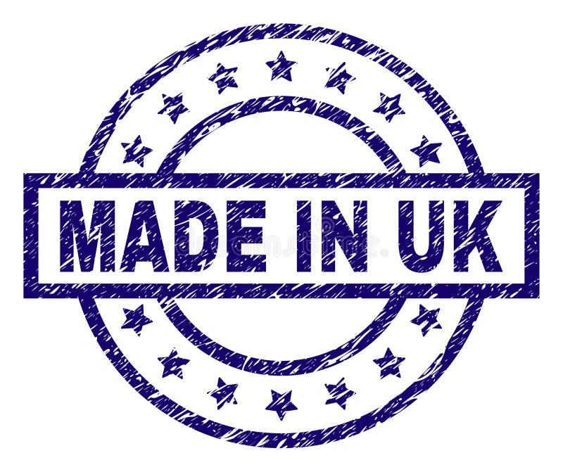 Grunge Textured MADE IN UK Stamp Seal vector illustration