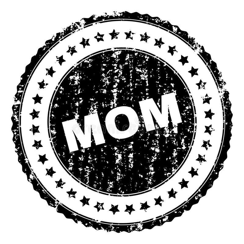 Grunge Textured mama znaczka fokę ilustracji