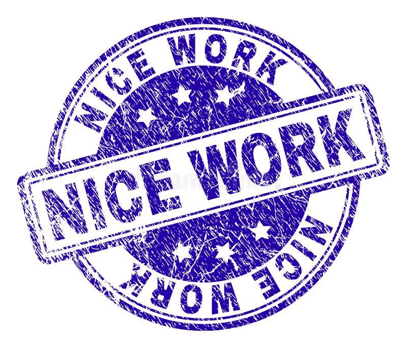 Grunge Textured NICE WORK Stamp Seal royalty free illustration