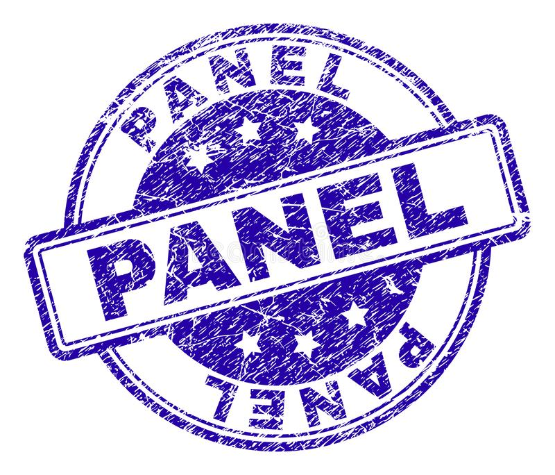 Grunge Textured panelu znaczka foka ilustracji