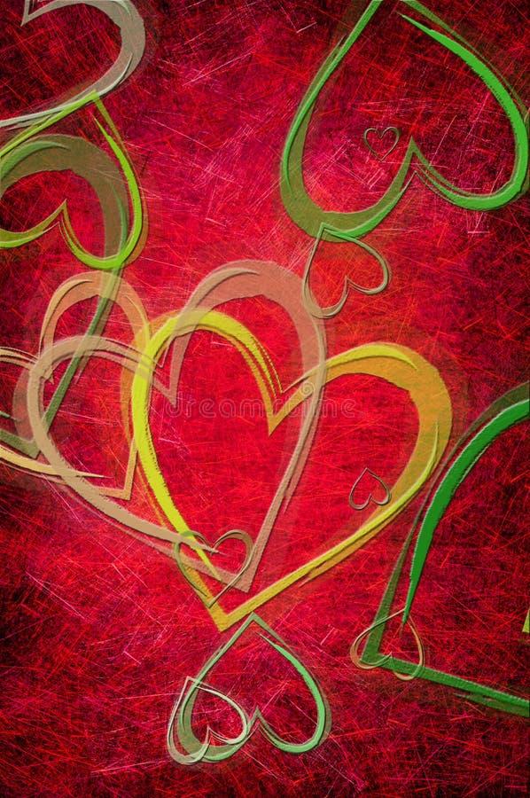 Grunge textured para el día de tarjetas del día de San Valentín ilustración del vector