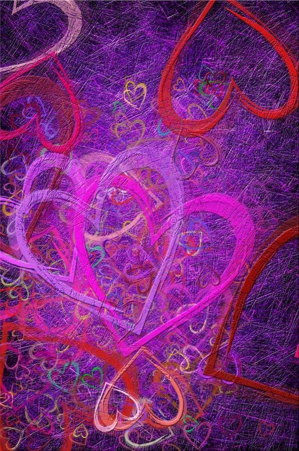 Grunge textured para el día de tarjetas del día de San Valentín stock de ilustración