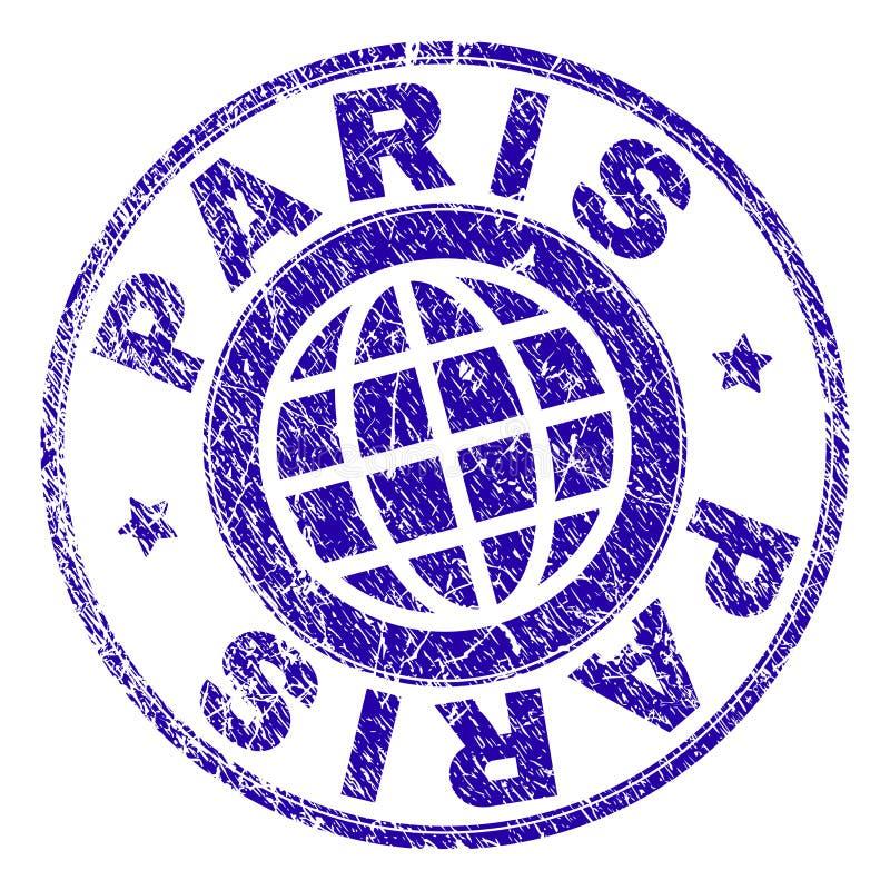 Grunge Textured PARYŻ znaczka foka ilustracji