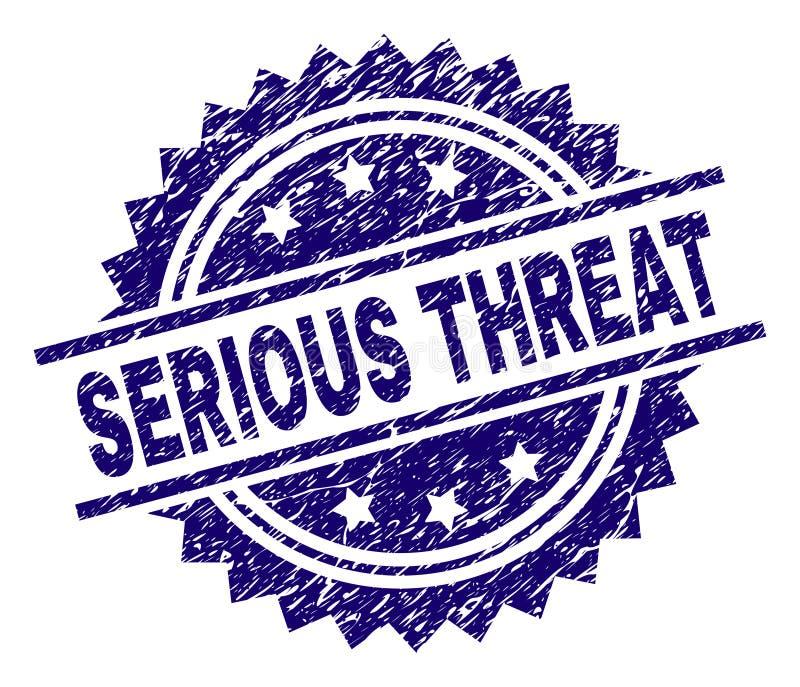 Grunge Textured poważna groźba znaczka foka ilustracja wektor