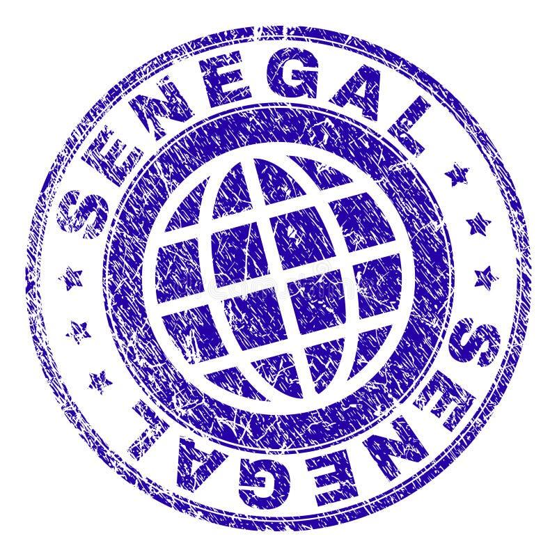 Grunge Textured SENEGAL Stamp Seal royalty free illustration