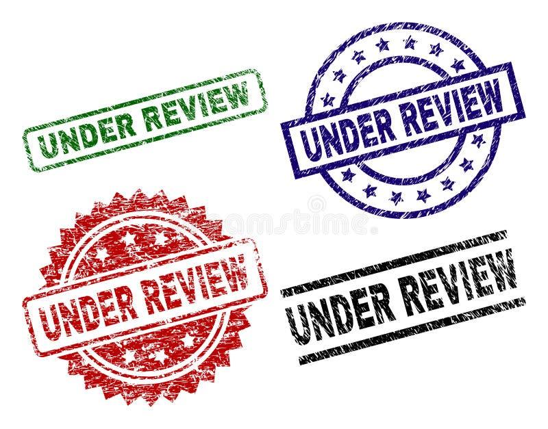 Grunge Textured SOB selos do selo da REVISÃO ilustração royalty free