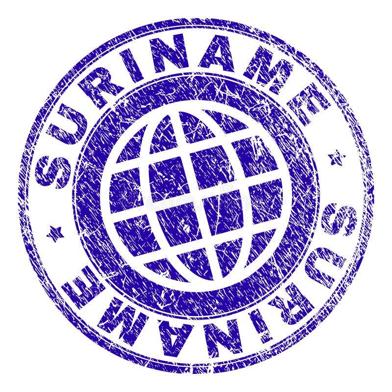 Grunge Textured SURINAME Stamp Seal stock illustration