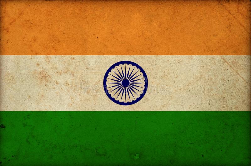 Grunge national indian flag India independence day royalty free stock photos