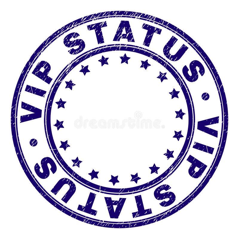 Grunge Textured VIP statusu Round znaczka foka ilustracja wektor