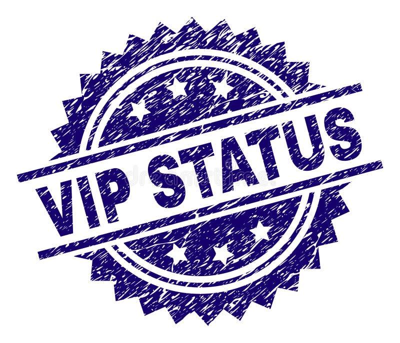 Grunge Textured VIP statusu znaczka foka royalty ilustracja