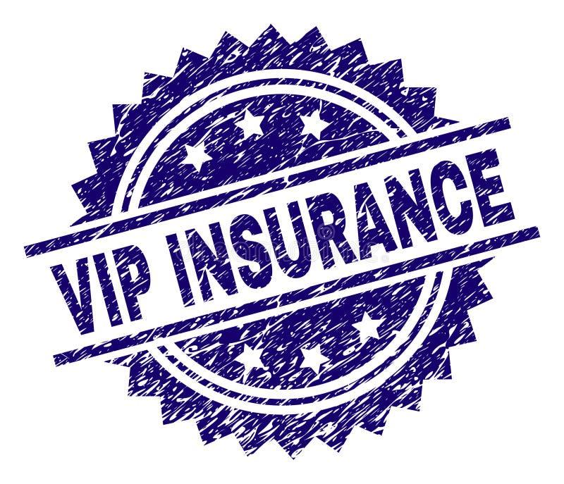 Grunge Textured VIP ubezpieczenia znaczka foka ilustracja wektor