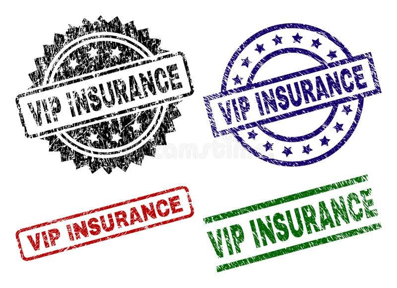 Grunge Textured VIP ubezpieczenia znaczka foki ilustracji