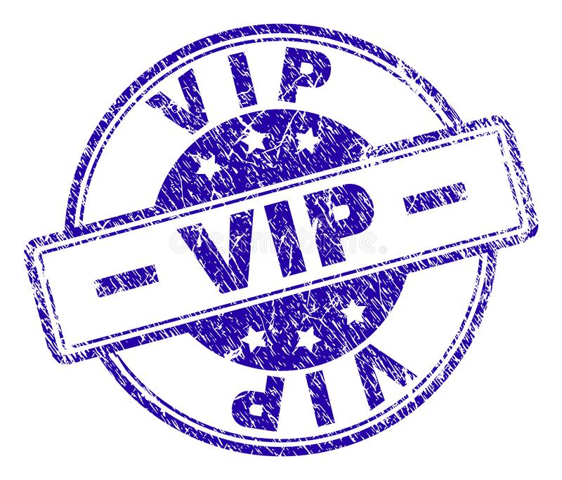 Grunge Textured VIP znaczka fokę ilustracji