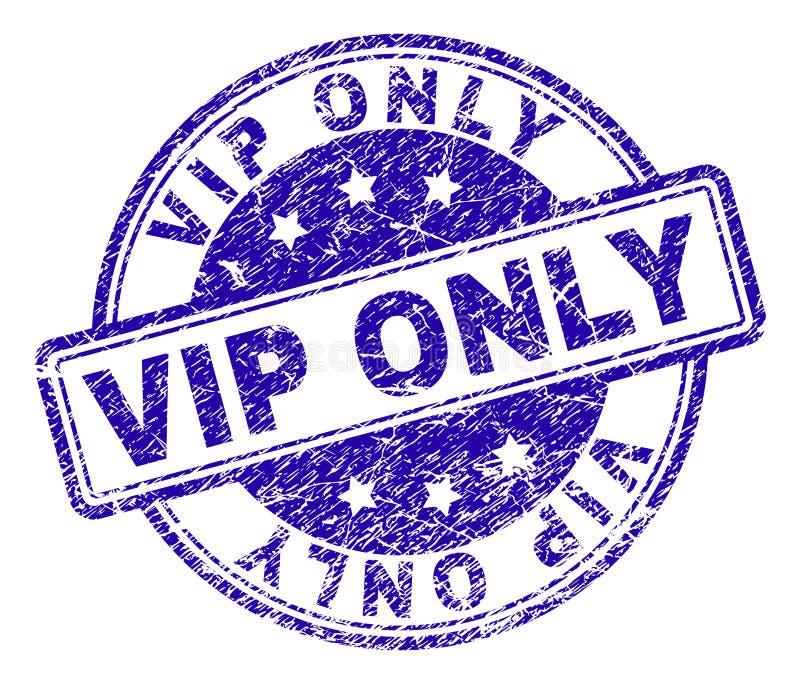 Grunge Textured VIP znaczka TYLKO foka ilustracja wektor