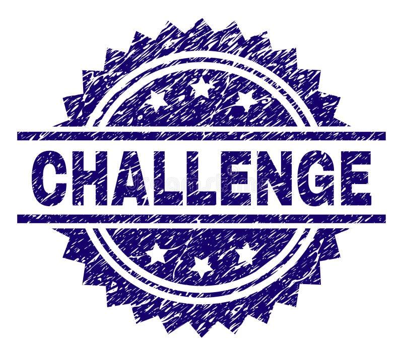 Grunge Textured wyzwanie znaczka foka ilustracji