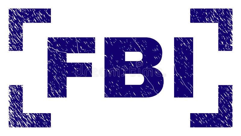 Grunge texturerad FBIstämpelskyddsremsa mellan hörn stock illustrationer