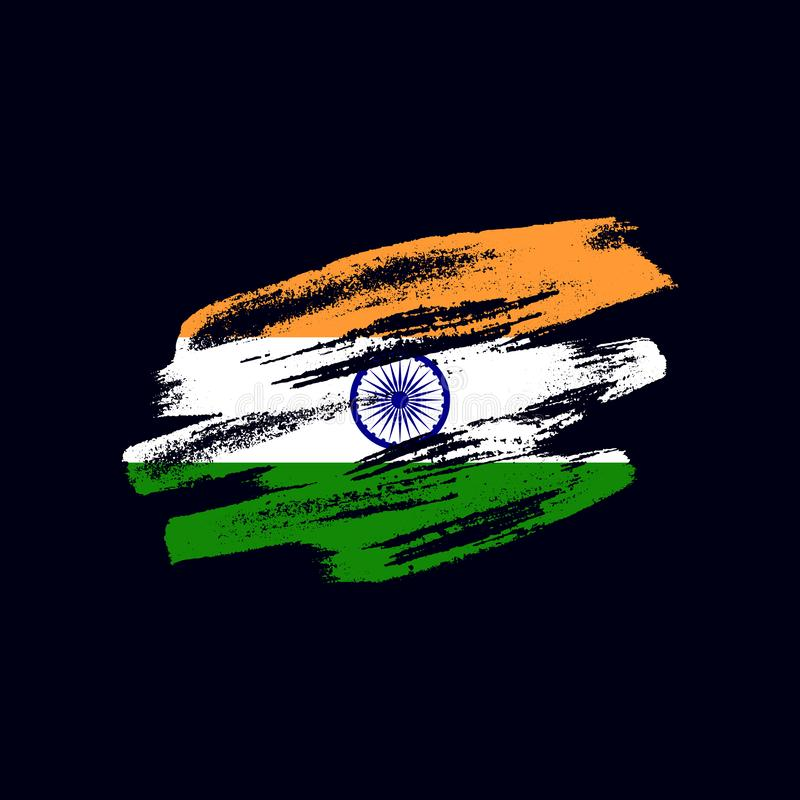 Grunge texturerad indisk flagga royaltyfri foto