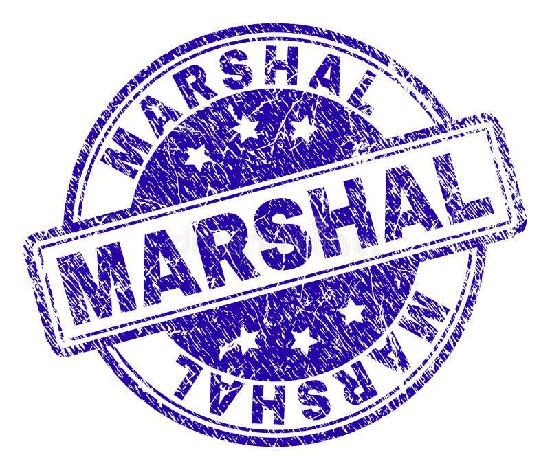 Grunge texturerad MARSKALK Stamp Seal stock illustrationer