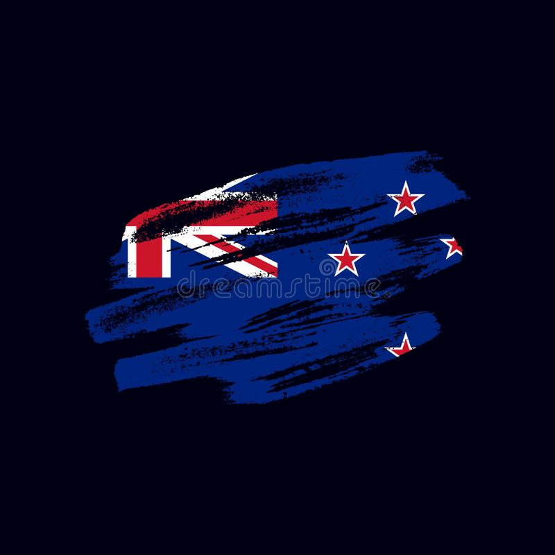 Grunge texturerad nyzeeländareflagga fotografering för bildbyråer