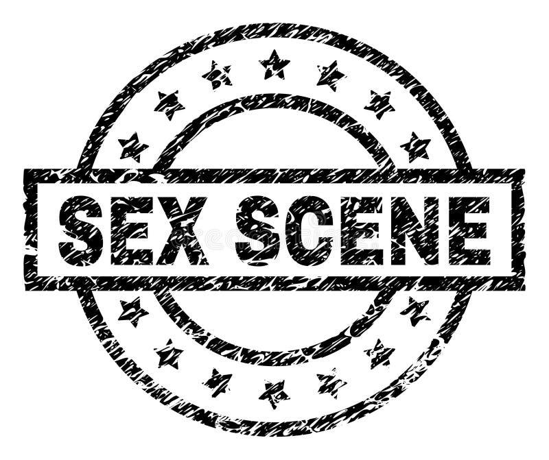 Grunge texturerade KÖNSBESTÄMMER PLATSstämpelskyddsremsan royaltyfri illustrationer