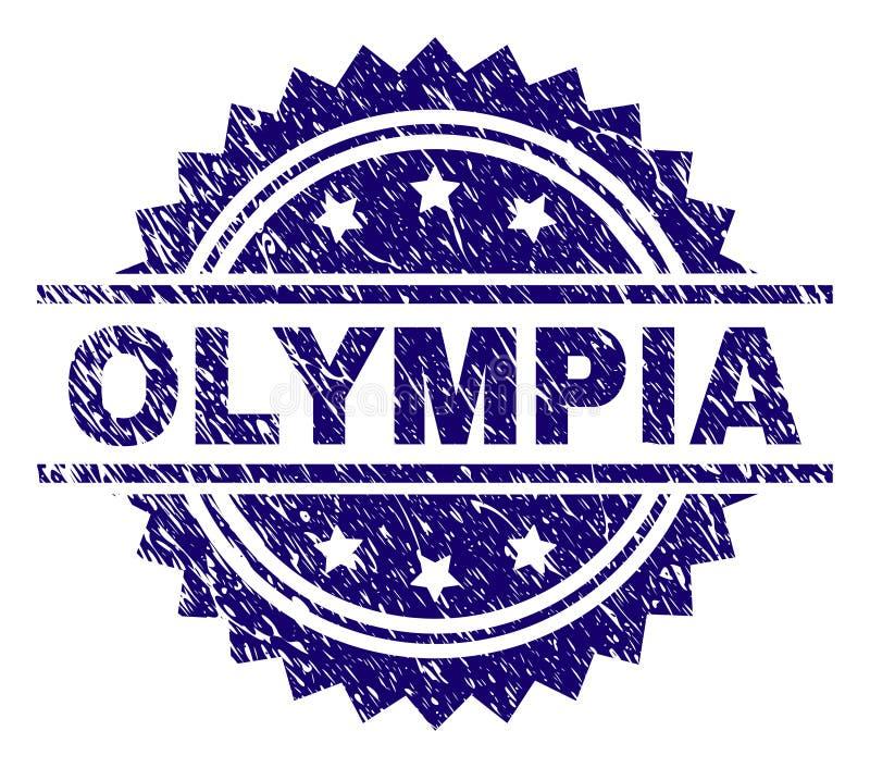 Grunge texturerade OLYMPIA Stamp Seal vektor illustrationer