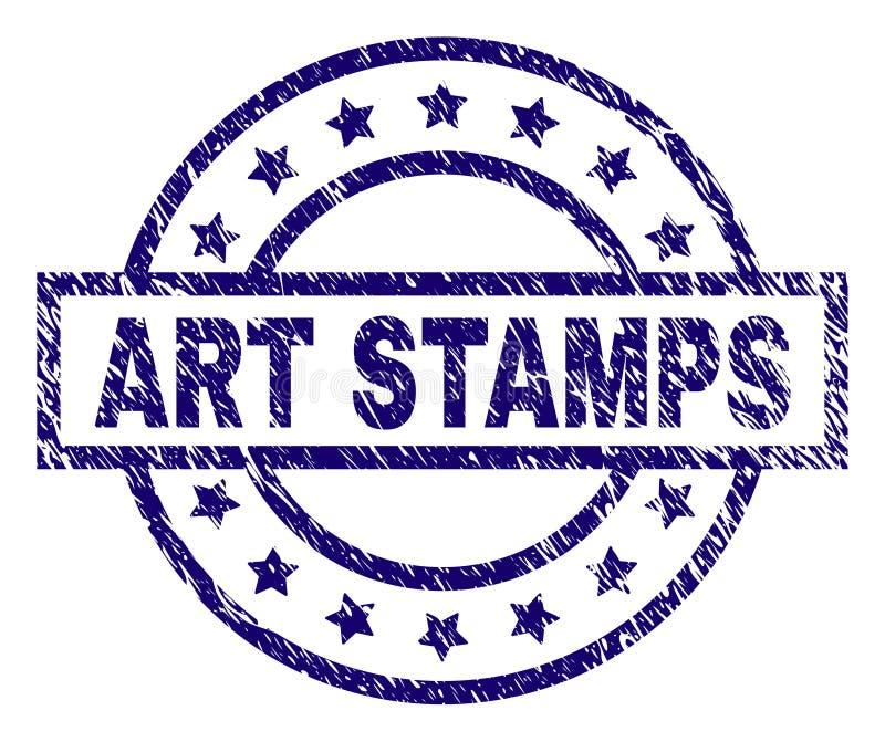 Grunge texturerade skyddsremsan för KONSTSTÄMPELstämpeln stock illustrationer