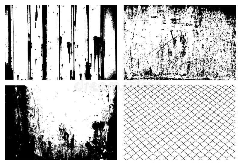 Grunge textures o vetor ilustração stock