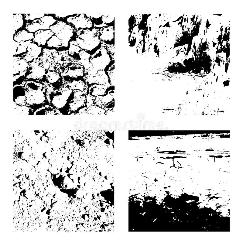 Grunge textures set royalty free illustration