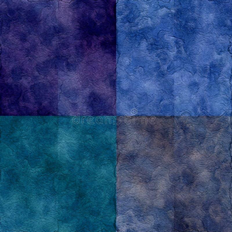 Grunge Textures Set stock illustration