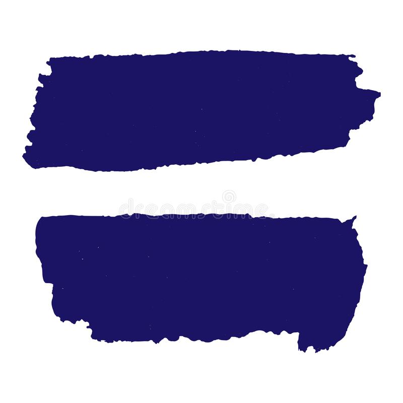 Grunge textures set. Dark blue horizontal brush on dark blue. Vector template. Urban Background. Dust Overlay Distress Grain. Hand drawn illustration. Abstract stock illustration
