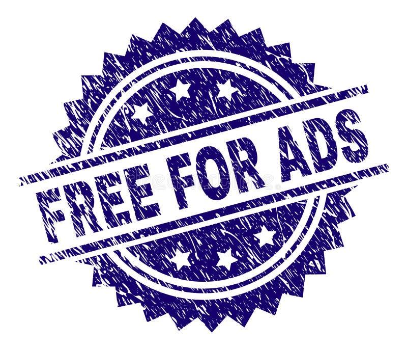 Grunge texturisé LIBÈRENT POUR le joint de timbre d'ADS illustration libre de droits