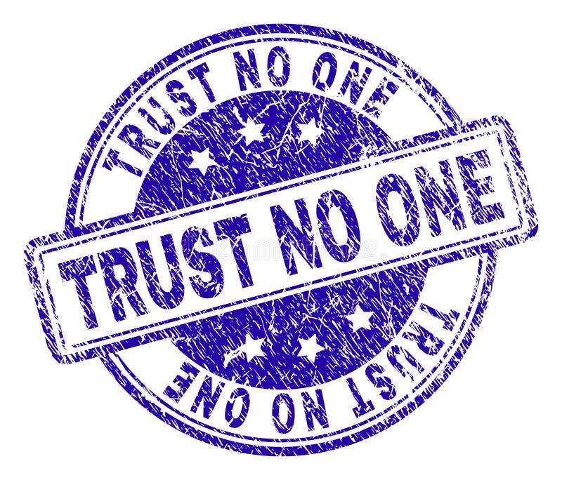 Grunge texturisé NE FONT CONFIANCE à AUCUN joint de timbre illustration libre de droits