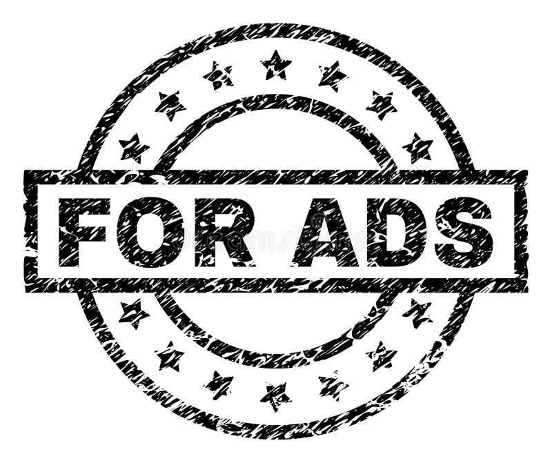 Grunge texturisé POUR le joint de timbre d'ADS illustration de vecteur